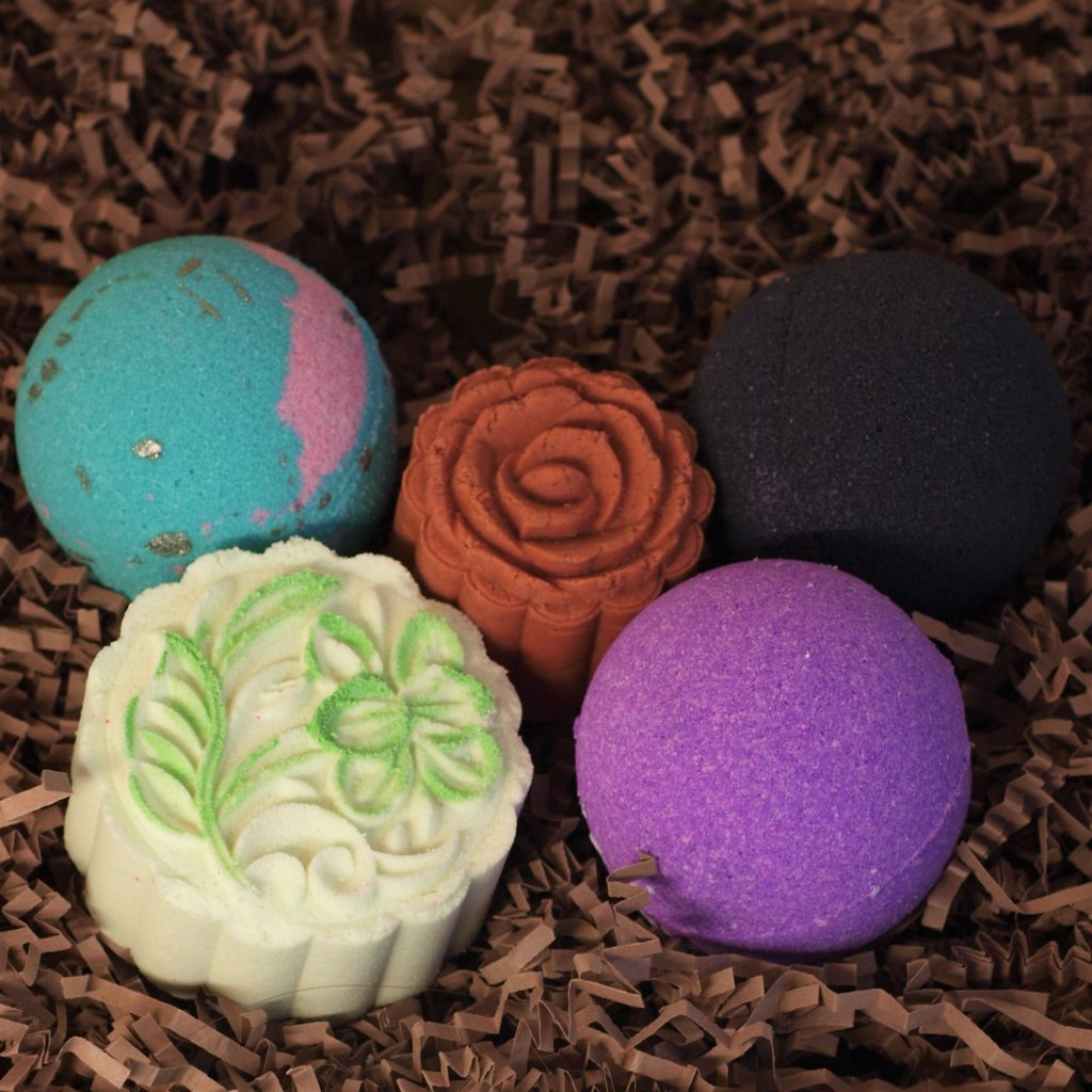 Monthly bath bomb subscription box!