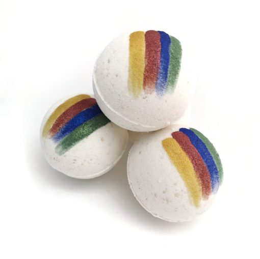 Group of House Pride bath bombs